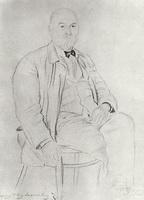 Портрет П.А. Власова (Б.М. Кустодиев, 1925 г.)