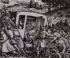 Нападение на свадебную карету (Б. Кустодиев, 1919 г.)