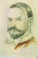 Автопортрет (Б. Кустодиев, 1904 г.)