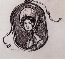 Женский портрет - невеста барина Лапутина (Б. Кустодиев, 1922 г.)