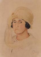 Портрет А.К. Кашпаровой (Б.М. Кустодиев, 1911 г.)