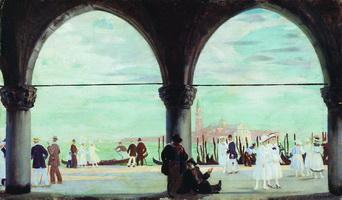 Венеция. Воспоминание (Б. Кустодиев, 1918 г.)