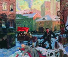 Октябрь в Петрограде (Б.М. Кустодиев, 1927 г.)