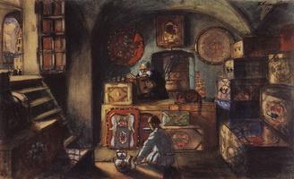 Сундучник (Б.М. Кустодиев, 1918 г.)