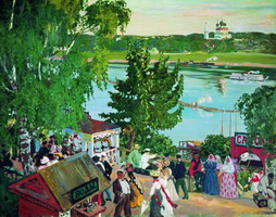 Гулянье на Волге (Б. Кустодиев, 1909 г.)