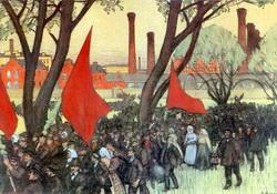 Первомайская демонстрация у Путиловского завода (1900 г.)