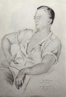 Портрет А.К. Минеева (Б.М. Кустодиев, 1923 г.)