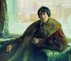 Портрет скульптора и архитектора И.С. Золотаревского (Б.М. Кустодиев, 1922 г.)