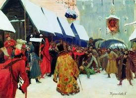 Возмущение слобод против бояр (Б. Кустодиев, 1897 г.)