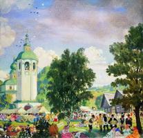 Сельский праздник (Б.М. Кустодиев, 1919 г.)