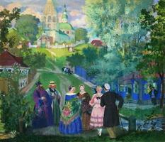 Лето. Провинция (Б. Кустодиев, 1922 г.)