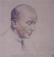 Портрет Ф.Ф. Нотгафта (Б.М. Кустодиев, 1921 г.)