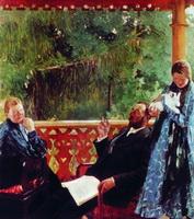 Портрет семьи Поленовых - Семейный портрет (Б.М. Кустодиев, 1905 г.)