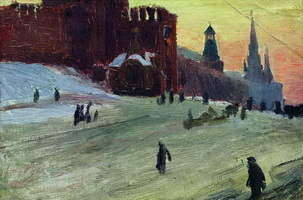 Москва. Красная площадь (Б. Кустодиев)