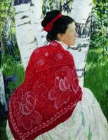 Портрет жены художника (Б.М. Кустодиев, 1909 г.)
