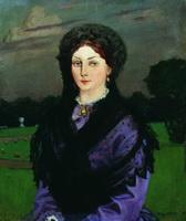 Женский портрет (Б. Кустодиев, 1904 г.)