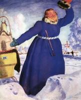 Извозчик - Лихач (Б. Кустодиев, 1920 г.)