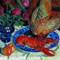 Натюрморт с фазанами (Б. Кустодиев, 1914 г.)