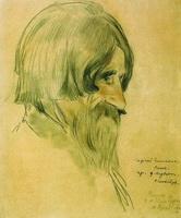 Портрет крестьянина Котова (Б.М. Кустодиев)