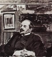 Александр Бенуа (Б. Кустодиев, 1911 г.)